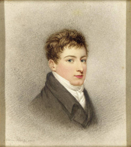 Buck Drawing - A Portrait Of J.g.m. Burt Wearing A Grey Coat And White Cravat by Adam Buck