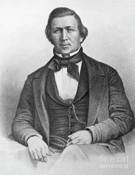 Pioneer School Wall Art - Drawing - A Portrait Of Mormon Leader Brigham Young by American School