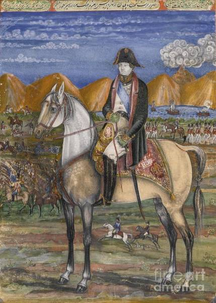 0 Painting - A Portrait Of Napoleon On Horseback by Celestial Images