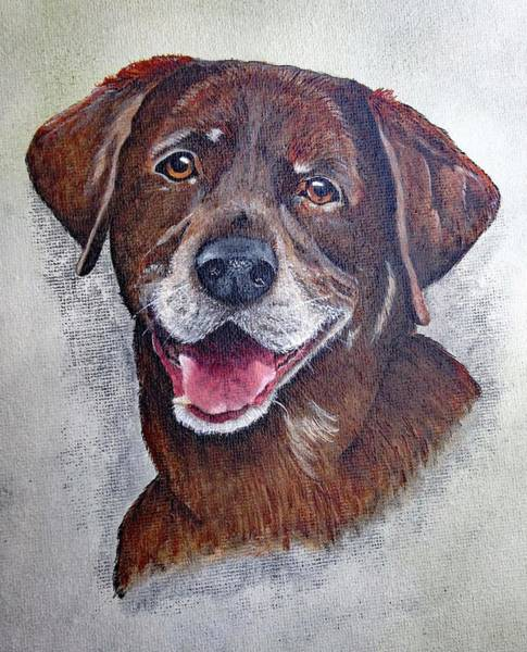 Wall Art - Painting - A Portrait Of Remmi - Acrylic Painting by Cindy Treger