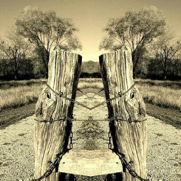 Fence Post Digital Art - A Post Card View by Scott D Van Osdol