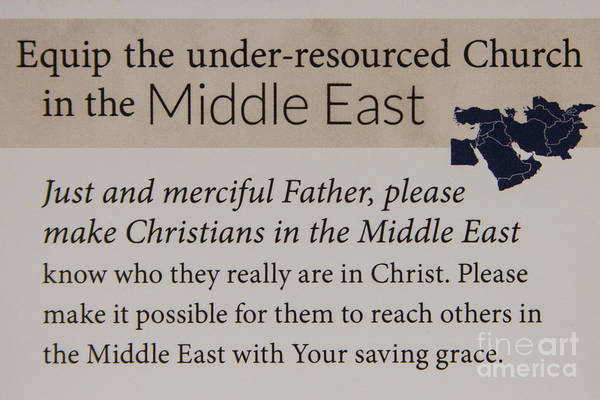 Pray For Love Wall Art - Photograph - A Prayer For The Middle East Prayer Art by Reid Callaway