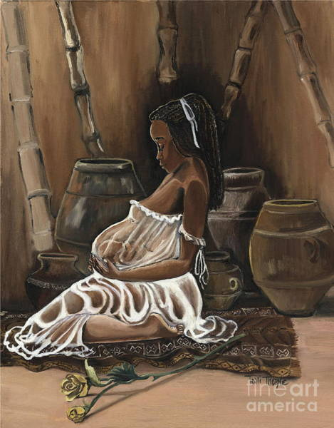 Pregnancy Painting - A Precious Moment by Toni  Thorne