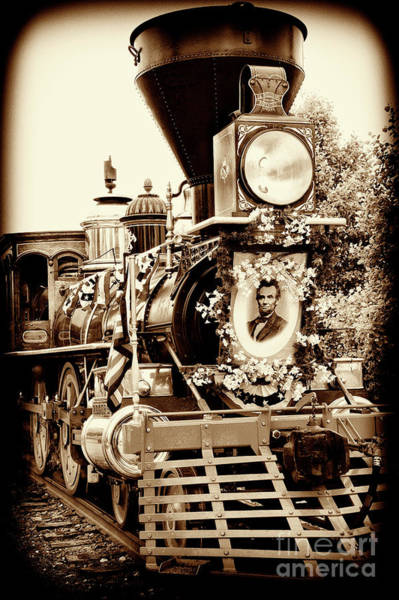 Wall Art - Photograph - A President's Funeral Train - 3378-e by Paul W Faust - Impressions of Light