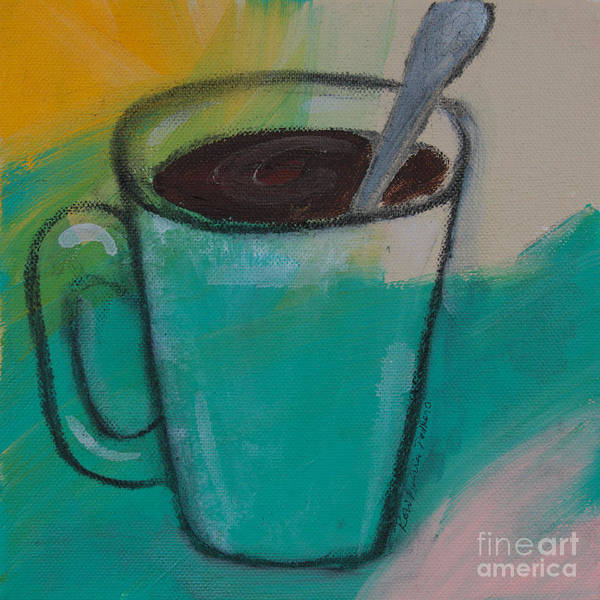 Painting - A Quick Stir Coffee by Robin Maria Pedrero