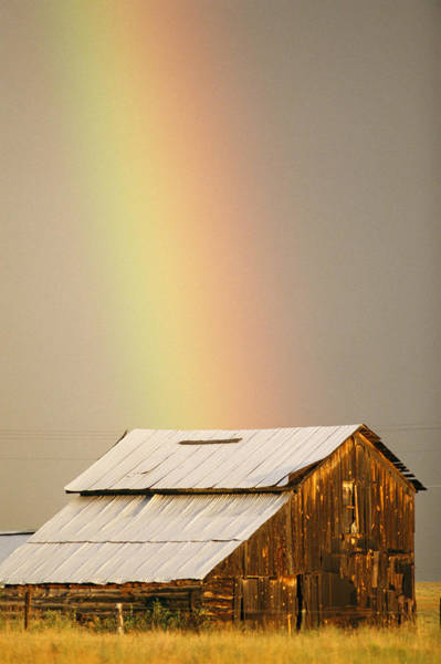 Westcliffe Photograph - A Rainbow Arches From The Sky Onto by Michael S. Lewis
