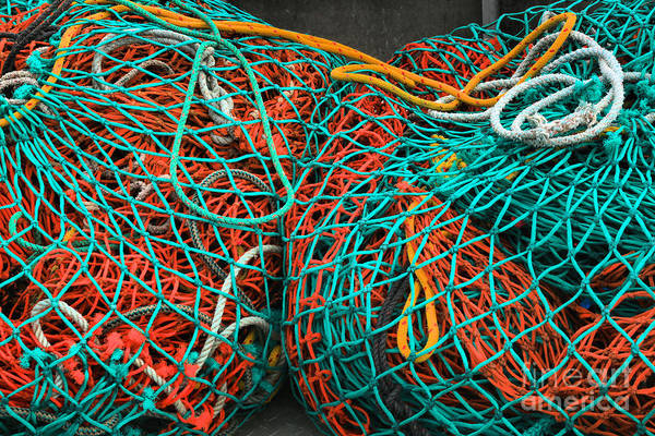 Photograph - A Rainbow Of Nets And Ropes by Adam Jewell