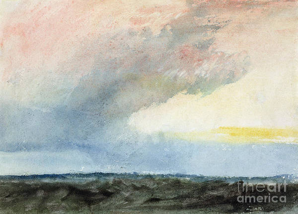 Turner Painting - A Rainstorm At Sea by Joseph Mallord William Turner