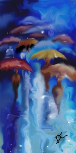 Digital Art - A Rainy Day In Paris by Darren Cannell