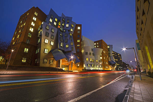 Photograph - A Rainy Night At The Mit Stata Center In Cambridge, Ma by Toby McGuire
