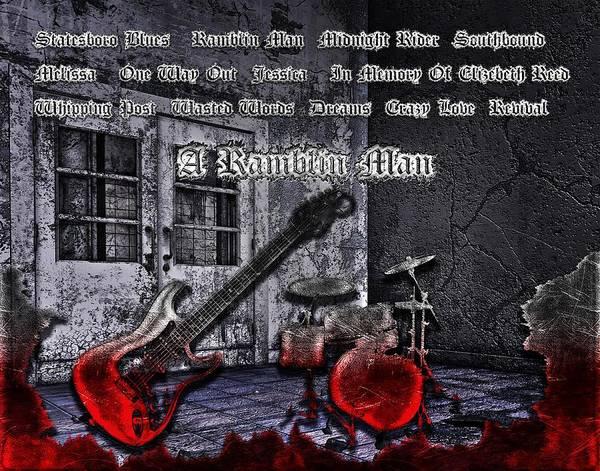 The Allman Brothers Band Wall Art - Digital Art - A Ramblin Man by Michael Damiani