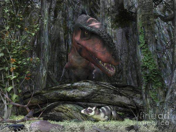 Paleobotany Digital Art - A Rat-sized Purgatorius Hides by Walter Myers