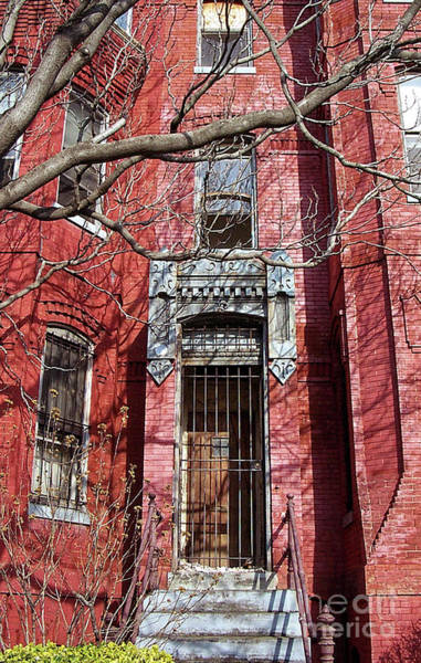 Photograph - A Red Brick Row House by Walter Neal