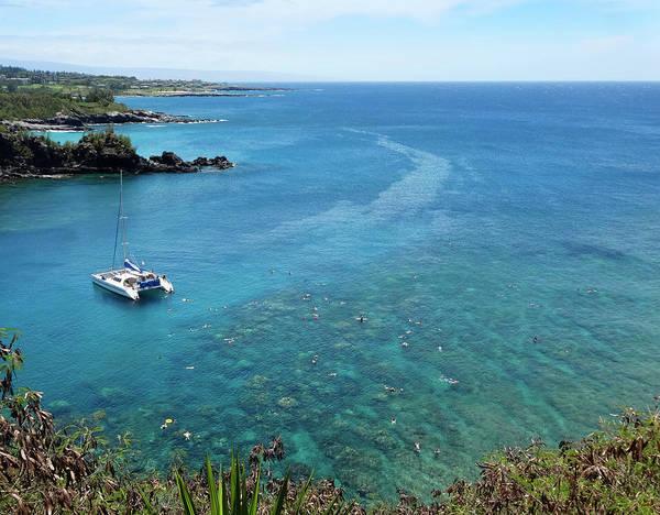 Hawaiiana Photograph - A Reef Popular For Snorkeling, Honolua Bay, Maui, Hawaii by Derrick Neill
