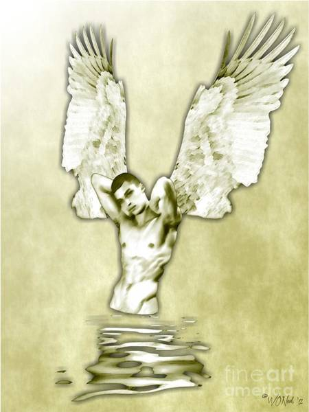 Digital Art - A Reflection On An Angel by Walter Neal