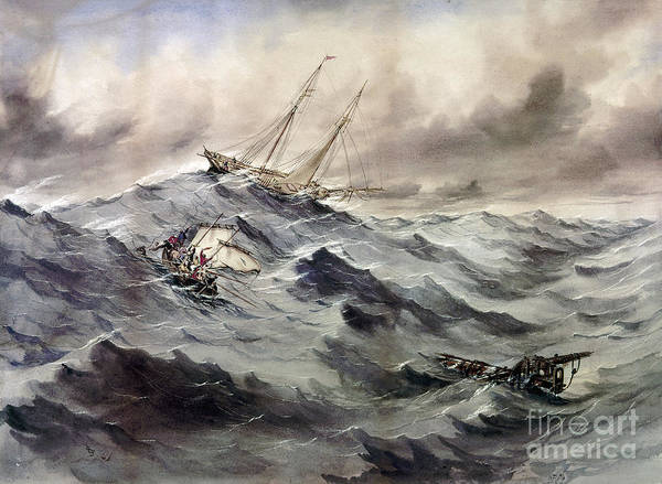 Photograph - A Rescue At Sea, C1862 by Granger