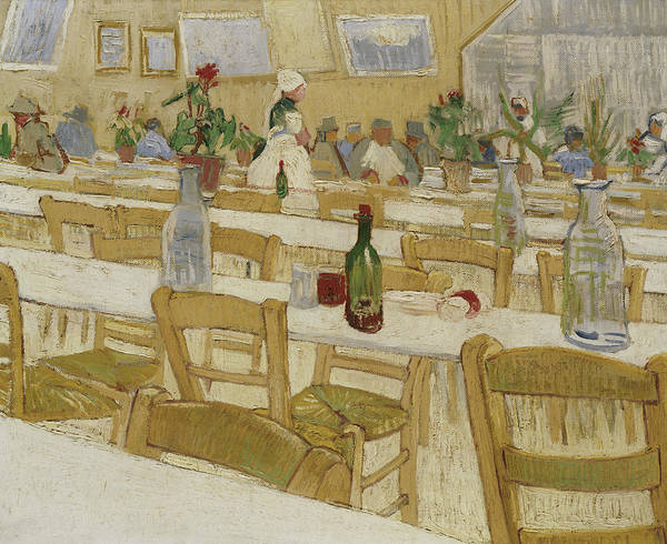 Painting - A Restaurant Interior by Vincent Van Gogh