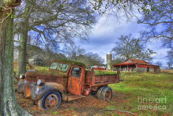 Dump Truck Photograph - A Resting Place 2 Boswell Farm Art by Reid Callaway