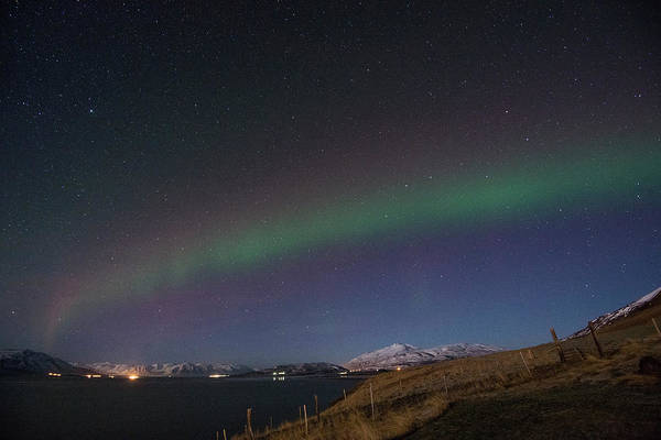 Photograph - A Ribbon Of Northern Lights by Matt Swinden
