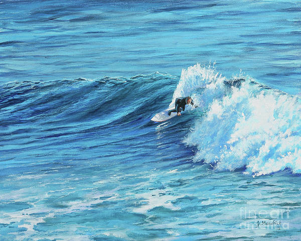 A Ride On Steamer Lane Art Print