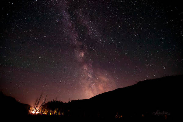 Photograph - A Ride Under Montana's Milky Way by Renee Sullivan
