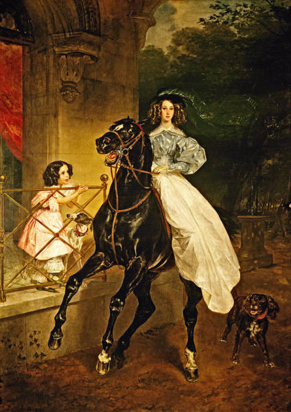 Jogging Painting - A Rider 1832 by Karl Bryullov Bryullo