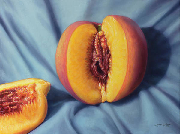 Painting - A Ripe Peach by James W Johnson