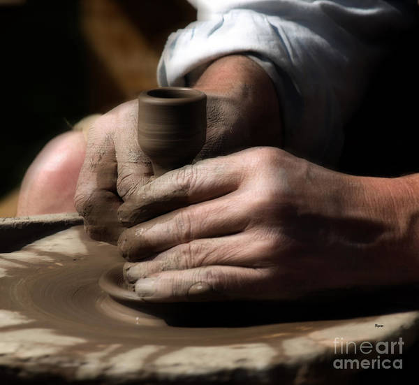Potters Wheel Wall Art - Photograph - A River Of Hands by Steven Digman