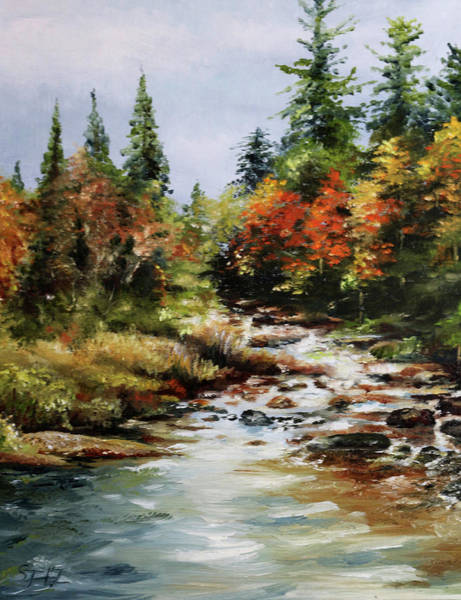 Adirondack Mountains Painting - A River Runs by Steve James