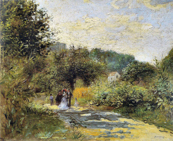 Photograph - A Road In Louveciennes  by Auguste Renoir