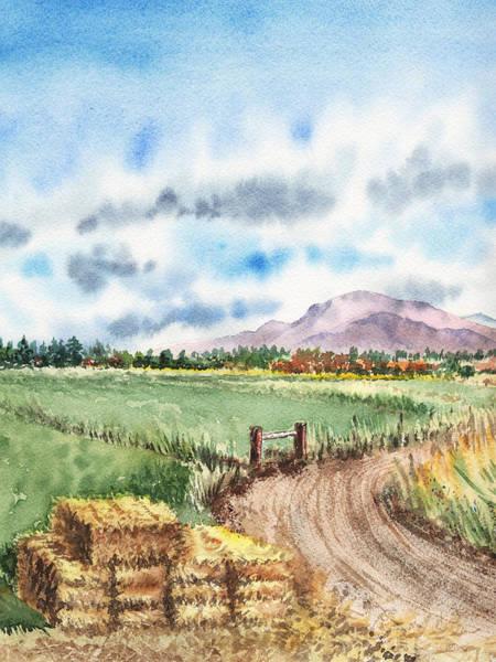 Painting - A Road To The Mountain by Irina Sztukowski