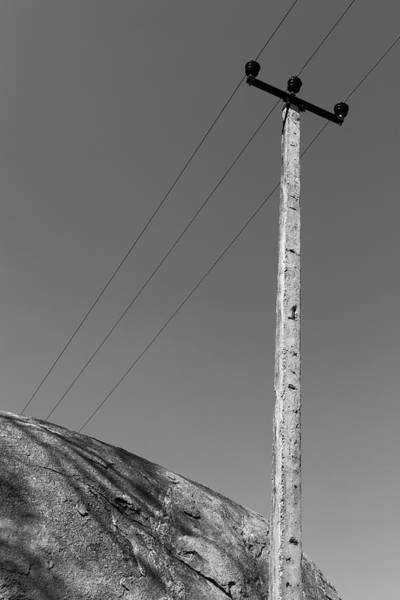 Photograph - A Rock And A Pole, Hampi, 2017 by Hitendra SINKAR