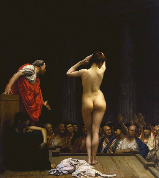 Perfect Body Painting - A Roman Slave Market by Jean - Leon Gerome