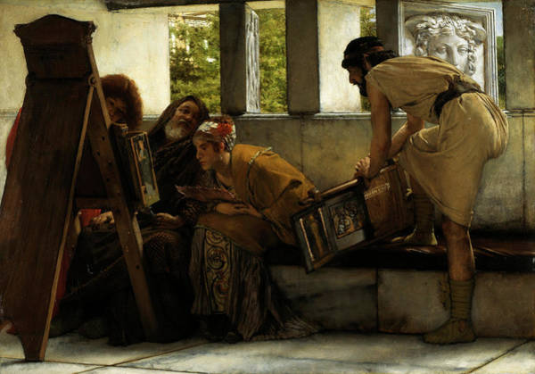 Wall Art - Painting - A Roman Studio by Sir Lawrence Alma-Tadema