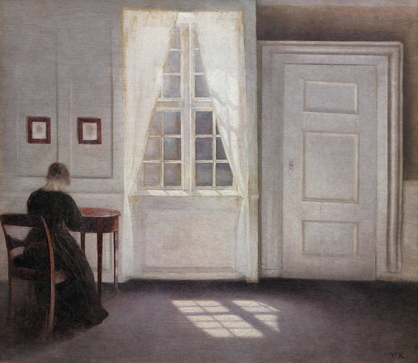 Painting - A Room In The Artist's Home In Strandgade by Vilhelm Hammershoi