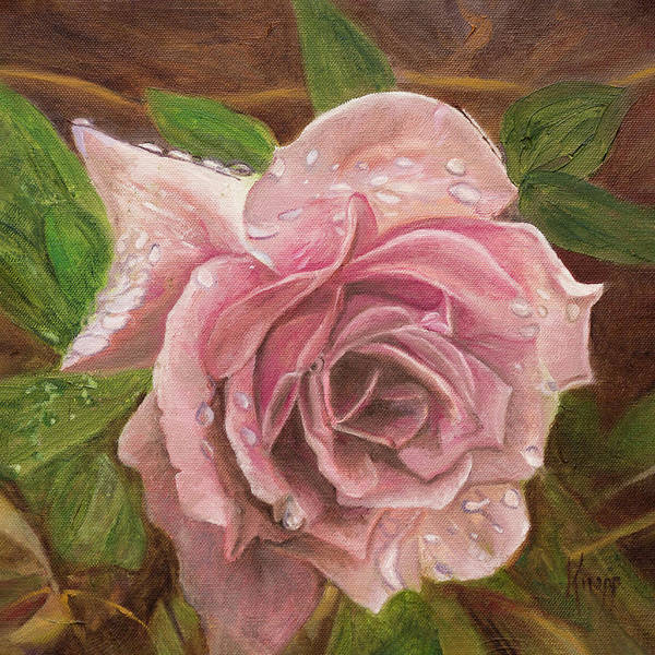 Painting -  A Rose by Kathy Knopp