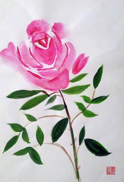 Painting - A Rose  by Margaret Welsh Willowsilk