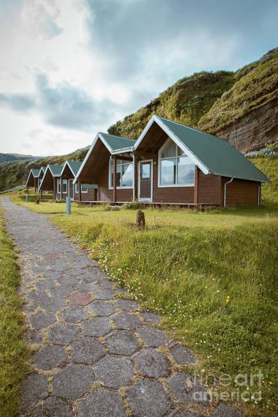 Photograph - A Row Of Cabins In Iceland by Edward Fielding