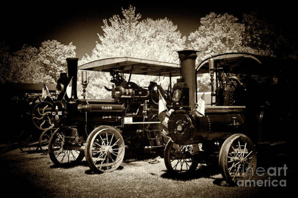 Wall Art - Photograph - a row of Old Steam by Paul W Faust - Impressions of Light