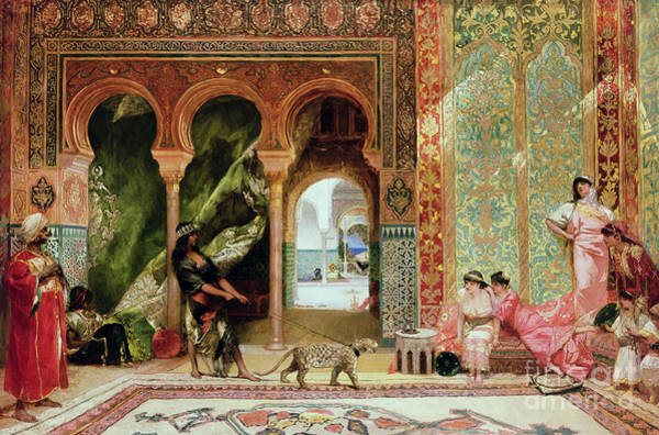 African Women Painting - A Royal Palace In Morocco by Benjamin Jean Joseph Constant
