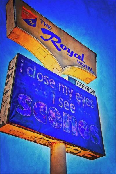Photograph - A Royal Scene, Route 66 Sign by Flying Z Photography by Zayne Diamond