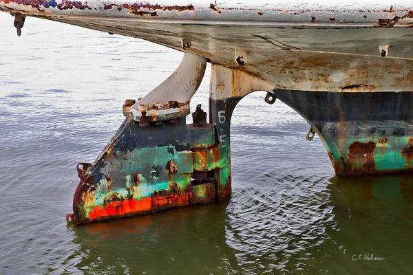 Photograph - A Rudder Of Many Colors by Christopher Holmes