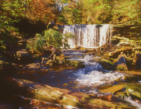 Photograph - A Rugged Scene Of A Small Waterfall by Rusty R Smith