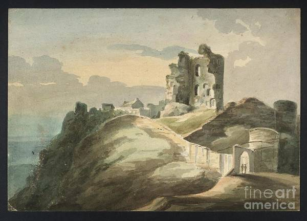 Corfe Painting - A Ruined Castle On A Hill by MotionAge Designs