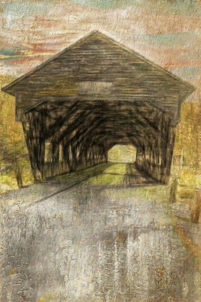 Digital Art - A Rustic Covered Bridge by Rusty R Smith