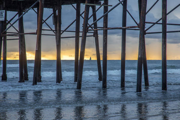 Oceanside Pier Photograph - A Sailboat Au Piers by Peter Tellone