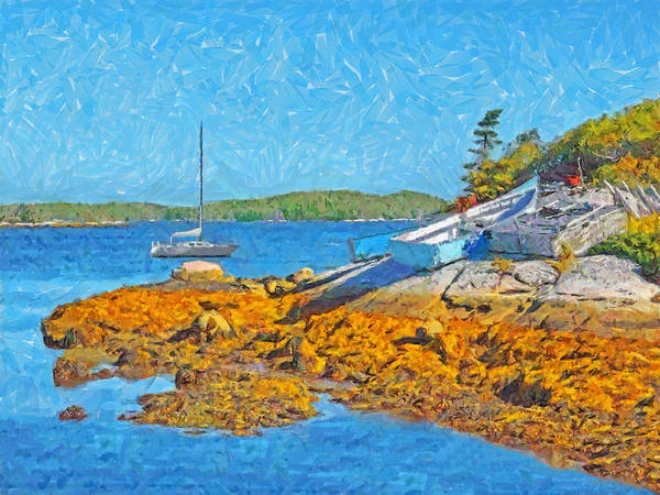 Digital Art - A Sailboat Near Halifax Nova Scotia by Digital Photographic Arts