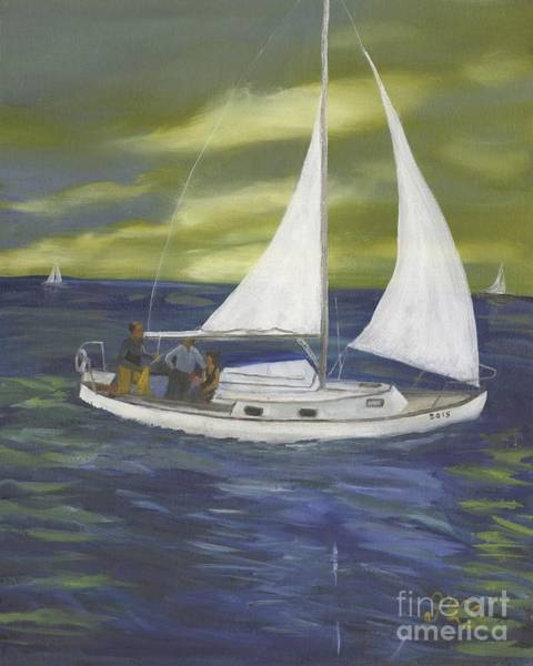 Wall Art - Painting - A Sailor's Delight by Gloria Condon