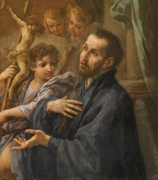 Painting - A Saint At Prayer by Sebastiano Conca