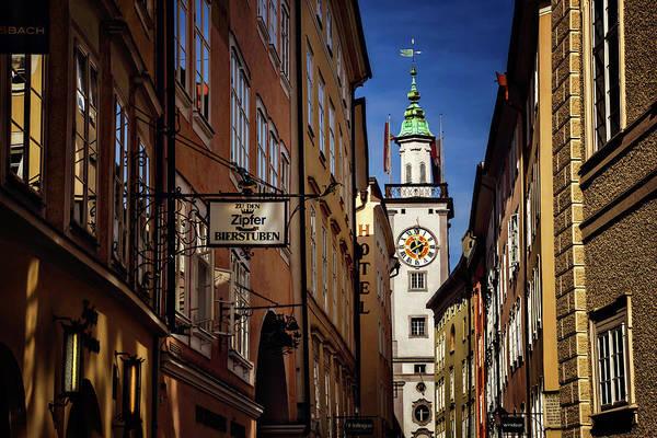 Rathaus Photograph - A Salzburg Street  by Carol Japp